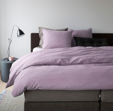 Auping chambray Mauve Lila paars,katoen, 140,200,240 cm.breed