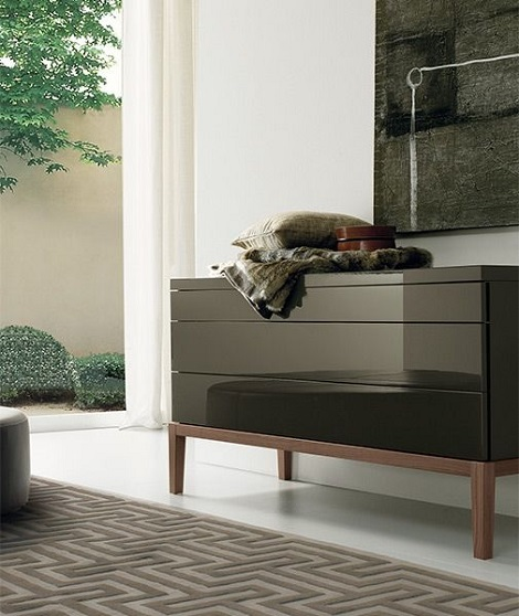 Jesse_commode_hoogglans_design_Italie_125 cm. breed_poot_eiken_wenge