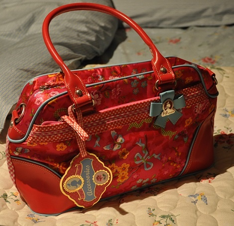 Pip tas rood carry all,kleur red,handtas