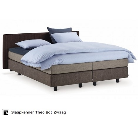 Auping Dominica original boxspring met zwevend hoofdbord,laag,voetbord,topper