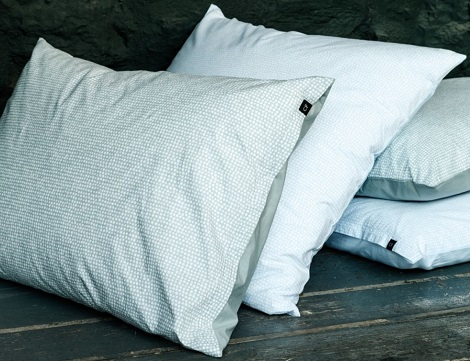CF by Christian Fischbacher overtrek Love me more,percale, satijn, percale casual,Egyptisch katoen,blauw,wit