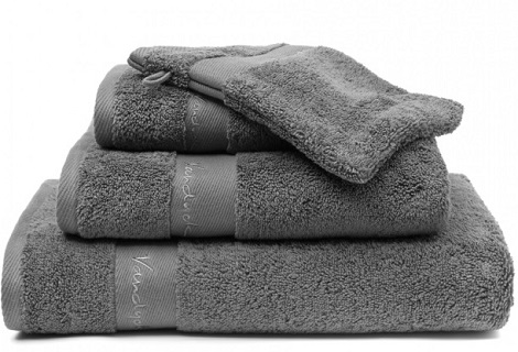 Handdoek Scala Premium,mole grey,fluffy towel,wonderfully soft,,675 gr.luxe badtextiel,van Dyck