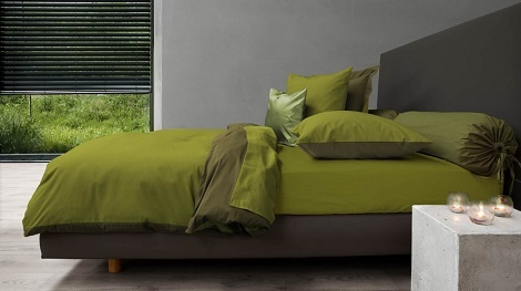 Heckett en Lane Royal cotton uni,dekbedovertrek katoen,percale,groen,legergroen,green oasis, burnt olive ,rolkussen