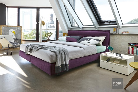 Boxspring Now by Hulsta paars design