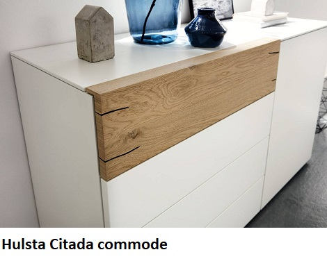 Hulsta Citada commode, 5 laden,wit