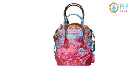 pip all carry, handtas chinese flower, red, rood,theo bot zwaag