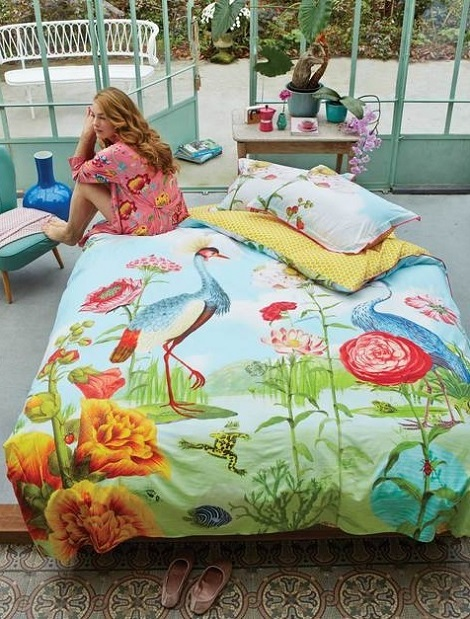 pip dekbedovertrek, kiss the frog, kleur multi, percale.j